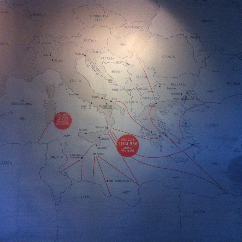 mappa delle migrazioni
